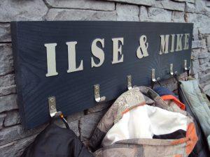 Kinderkapstok met naam Ilse Mike